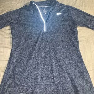 Women's NIKE dri fit element running top half zip